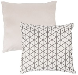 """Modern Geometric Decorative Throw Pillow and Insert- Home Decor Triangle Accent Pillow with Invisible Zipper, 18"""" by Somerset Home"""