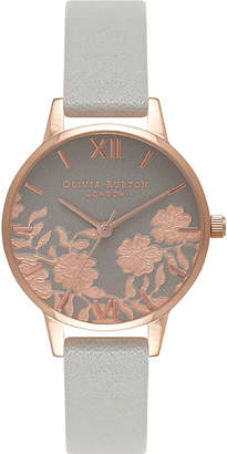 Olivia Burton Quartz grey dial leather strap