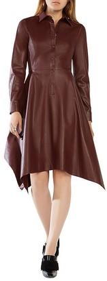 BCBGMAXAZRIA Beatryce Faux Leather Dress - 100% Exclusive $298 thestylecure.com
