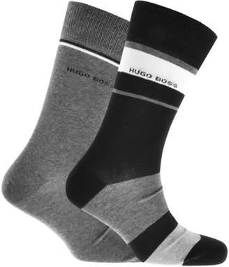 HUGO BOSS Two Pack Socks Black