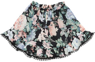 Zimmermann Verity Floral Print Cotton Skirt