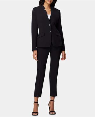 88dce613593a0 Tahari ASL Petite Star-Neck Ankle-Length Pants Suit