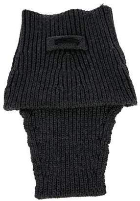 Prada Rib Knit Neck Warmer