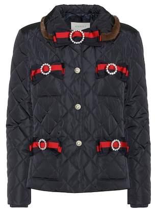 Gucci Mink fur-trimmed jacket