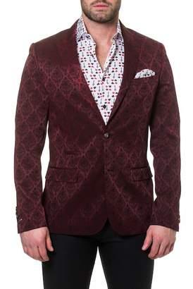 Maceoo Elegance Demask Burgundy Jacket