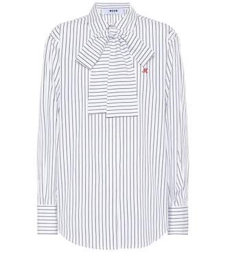 MSGM Striped cotton shirt