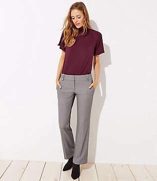 LOFT Petite Trousers in Buttoned Belt Loop in Marisa Fit