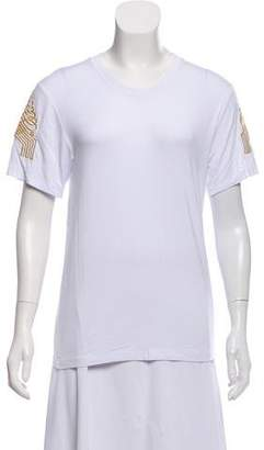 Just Cavalli Woven Crew Neck T-Shirt