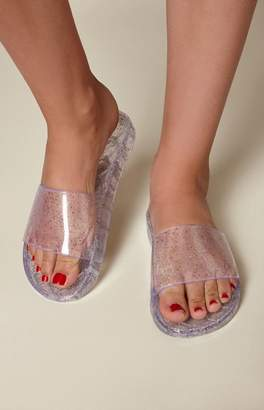 Kirra Glitter Jelly Slide Sandals