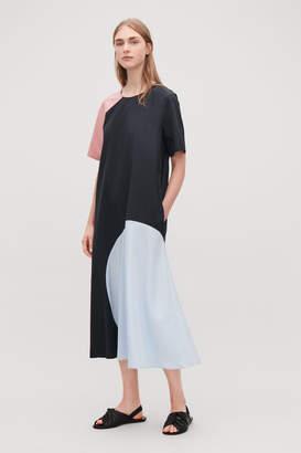 Cos PANELLED COLOUR-BLOCK DRESS