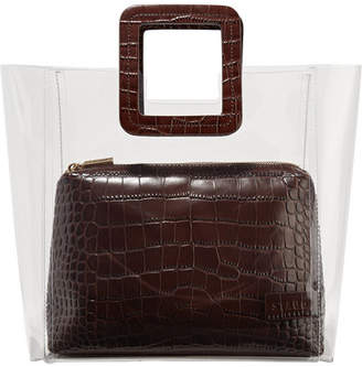 def25be181d9 STAUD Shirley Pvc And Croc-effect Leather Tote - Brown