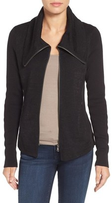 Women's Nic+Zoe Knit Moto Jacket $208 thestylecure.com