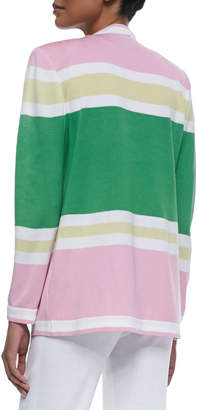 Misook Colorblock Draped Cardigan
