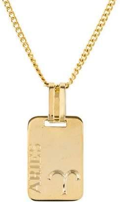 Lanvin Aries Zodiac Pendant Necklace
