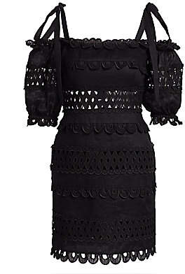 Zimmermann Women's Verity Scallop Off-The-Shoulder Mini Dress