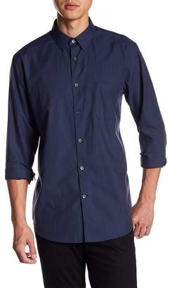 Theory Solid Long Sleeve Relaxed Fit Shirt