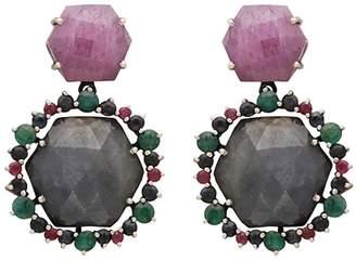 Carousel Jewels - Hexagons Sapphires Drop Earrings