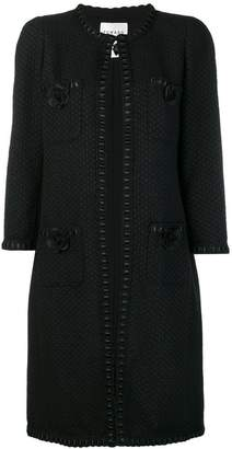 Edward Achour Paris tweed midi coat