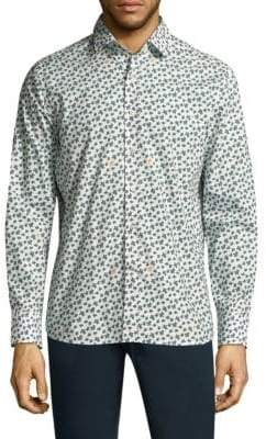 Vilebrequin Turtle Mix Cotton Button-Down Shirt