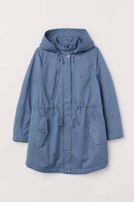 H&M H&M+ Hooded Parka - Blue