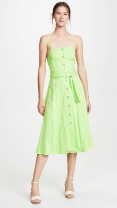 Moon River Lime Pinstripe Dress