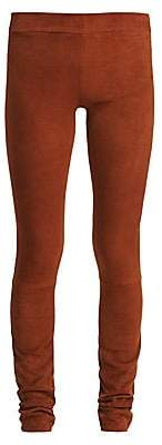 The Row Women's Tomo Bonded Suede Pants
