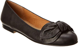French Sole Paradise Leather Flat
