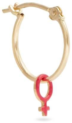 Alison Lou Enamel & yellow-gold Girl Power single earring