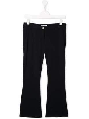 Dondup Kids TEEN flared mid-rise trousers