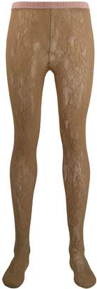 Gucci floral GG pattern tights
