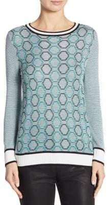 St. John Geometric-Print Sweater