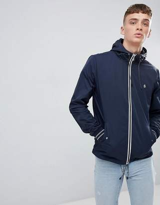 Original Penguin Lightweight Jacket Hooded Nylon In Navy