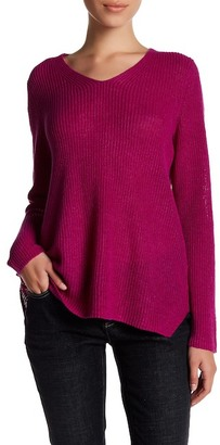 Eileen Fisher V-Neck Organic Linen Sweater (Petite) $178 thestylecure.com