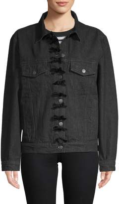 Manoush Women's Denim Bow Jacket