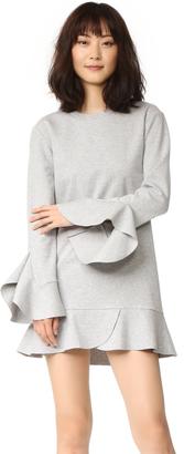 GOEN.J Long Sleeve Dress with Ruffle Trim $390 thestylecure.com