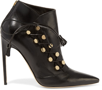 Brian Atwood Blanche leather ankle boots $1,200 thestylecure.com