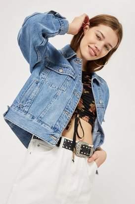 Topshop Petite Oversized Denim Jacket