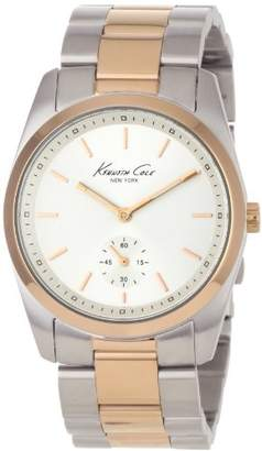 Kenneth Cole Ladies Dual Tone Silver/Rose Gold Stainless Steel Bracelet Watch Kc4754