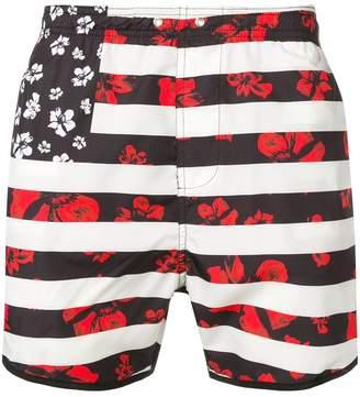 Neil Barrett printed swim shorts