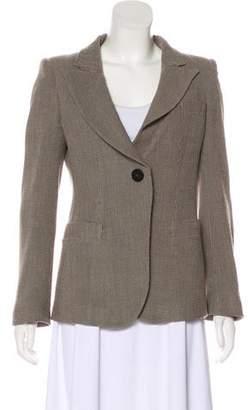 Armani Collezioni Wool Button-Up Blazer