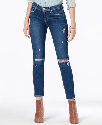 Hudson Ripped Cropped Skinny Jeans
