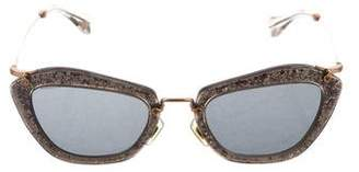 Miu Miu Glitter Tinted Sunglasses