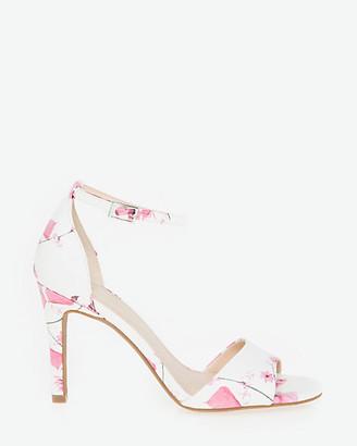 Le Château Floral Leather-Like Ankle Strap Sandal