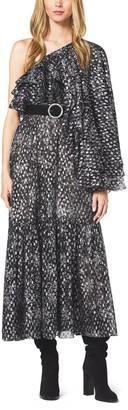Michael Kors Bohemian Floral Metallic Fil Coupe Dress