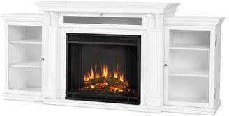 Real Flame Cali TV Stand with Fireplace Real Flame