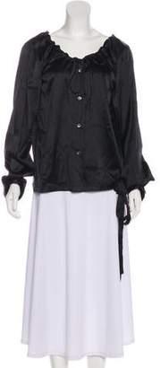 Ann Demeulemeester Silk Long Sleeve Top