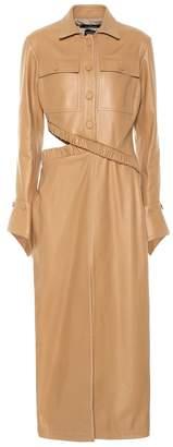 Rokh Leather midi dress