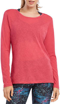 Jockey Fall 2018 Long Sleeve Round Neck T-Shirt-Womens