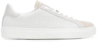Eleventy perforated lace-up sneakers
