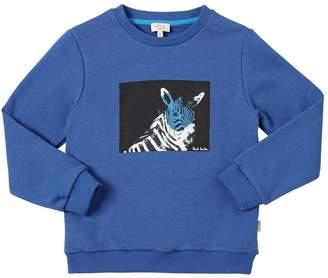Paul Smith Zebra Print Cotton Sweatshirt